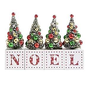 Árboles de Navidad decoración tamaño grande NOEL cualquier mantel XM137
