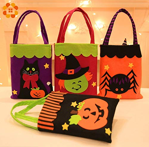 Star Tricks Bag Gift 1PC Candy Bags Halloween Gift Bags Trick or Treat Kids Gift Halloween Gift Holders Bag Party Favors for Halloween Party Supplies (Random)