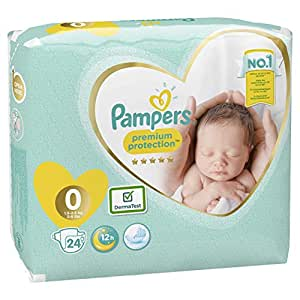 Pampers - New Baby - Pañales - Talla 0 (1-2.5 kg) - 6 x 24 pañales