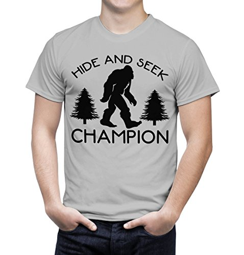 Funny Tee Shirts Hide And Seek Champion Humorous T Shirts for Men Funny Sarcasm (XL, Grey)