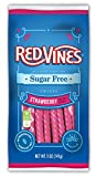 Red Vines Sugar Free Licorice, Strawberry Flavor, Soft & Chewy Candy Twists, 5oz Bags (12 Pack)