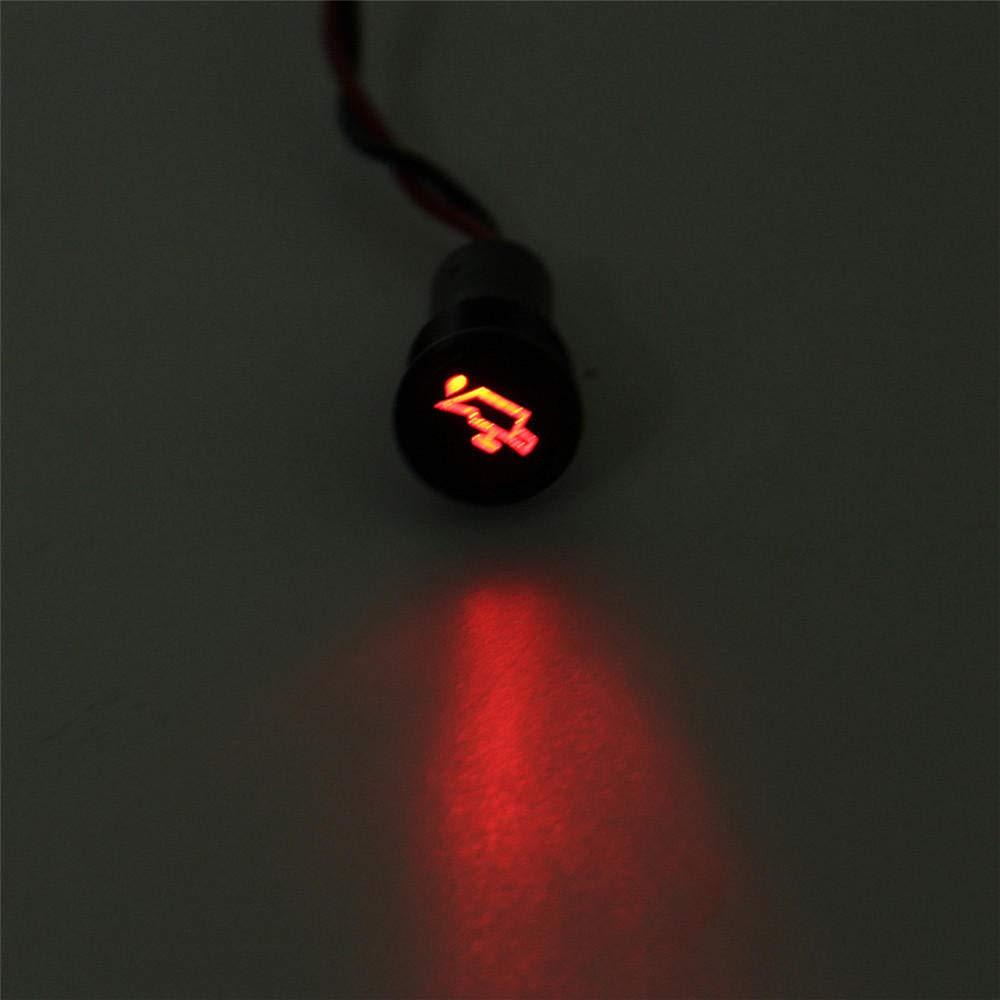 MYAMIA Universel Pr/é-C/âbl/é 12V 24V 36V 10mm /Étanche Panneau De Signalisation LED Voyant De Signalisation en M/étal-#1
