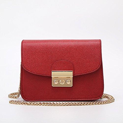 mefly Mode Mujer BAO-CHEMIE chunxia Cruz Funda, Rose red Claret
