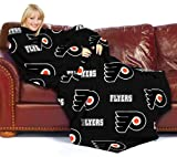 The Northwest Company NHL Philadelphia Flyers Comfy Throw Blanket with Sleeves
