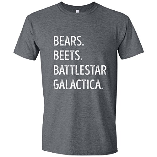 Feisty and Fabulous Jim Impersonating Dwight, FACT, Bears, Beets, Battlestar, XL, Gray ()
