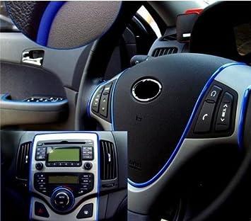 Moyishi-uk - Embellecedor moldeable para la parrilla del coche, acabado cromado, rollo de 5 m, 4 mm, color azul: Amazon.es: Coche y moto
