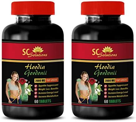 Appetite Suppressant for Men - HOODIA GORDONII 2000MG - Hoodia Super Slim - 2 Bottle (120 Tablets)