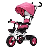 HAIZHEN Baby Stroller Children's Bicycle Front Wheel Clutch Non-Inflatable Titanium Empty Wheel 1-6 Years Old Bilateral Steering Seat Baby Carriage Third Gear Adjustment Footrest Sunshade Awnings T