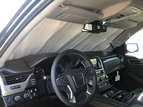 - The Original Windshield Sun Shade, Custom-Fit for GMC Yukon SUV 2015, 2016, 2017, 2018, 2019, Silver Series