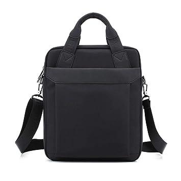 Womdee - Maletín para Ordenador portátil o Tablet, diseño Oxford, Color Negro: Amazon.es: Hogar