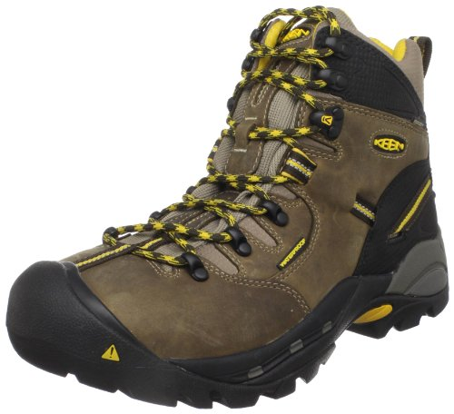 "KEEN Utility Men's Pittsburgh 6"" Steel Toe Waterproof Work Boot,Brown/Slate Black,13D"
