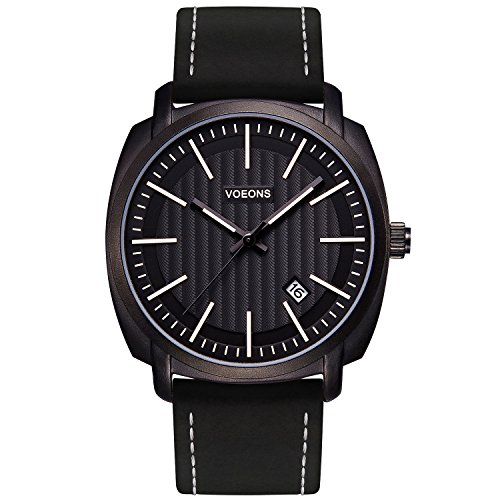 Watch Black Face Leather Band - 8