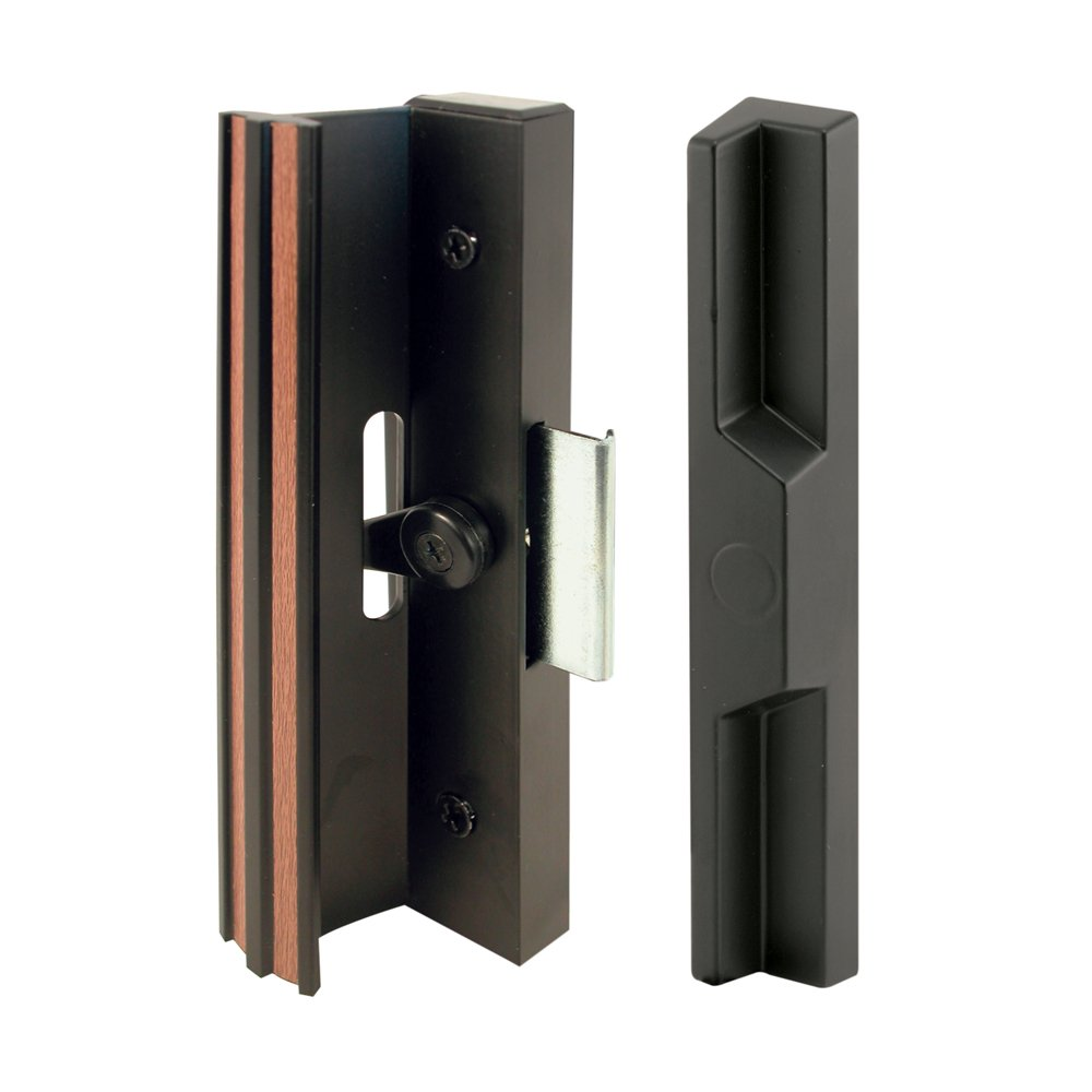 Prime-Line Products C 1106 Diecast Sliding Door Handle Set, Black Aluminum