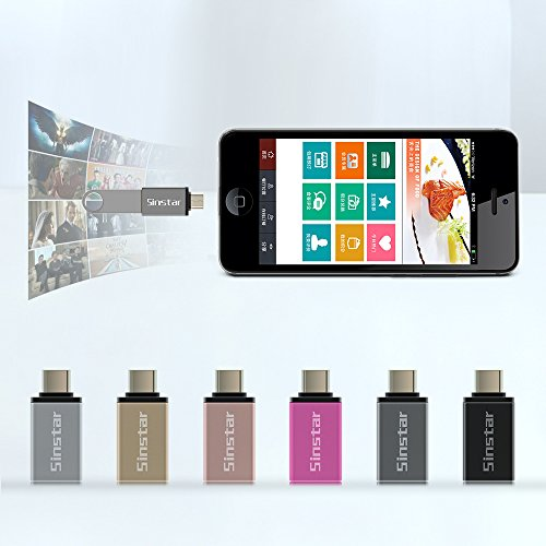 6 Pack] Sinstar Aluminum USB-C to USB 3 0 OTG Mini Adapter