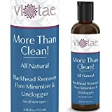 100% Natural Blackhead Remover, Pore Minimizer & Unclogger - 'More Than Clean' by Vi-Tae® - Deep Cleansing Face Wash For All Skin Types. To Get Rid of Blackheads & Clean, Shrink & Reduce Pores - 4.46oz