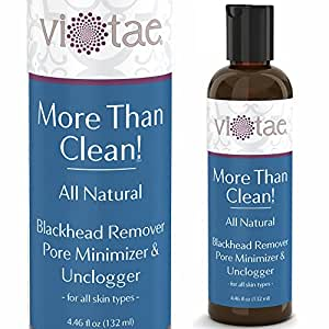 Vi-Tae Blackhead Remover, Pore Minimizer and Unclogger More Than Clean Face Wash for All Skin Types, 4.46 oz