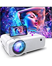 $98 » Bomaker WiFi Mini Projector, HD 1080P Supported, Native 1280x720P and 120 ANSI Lumen, Portable Home Theater Outdoor Video Movie Projector,Compatible with TV Stick, Video Games,PS4,DVD Players,iPhone