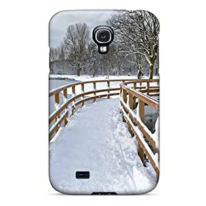 Galaxy S4 LLBqaqg5323pFUKP Snow Covered City Park Tpu Silicone Gel Case Cover. Fits Galaxy S4