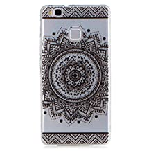 KSHOP Accessory for Samsung Galaxy S5 Case Cover Bumper Shell Soft TPU Silicone Transparent Clear Ultra Slim Skin Shell Anti-scratch Protective Bumper-Black Mandala