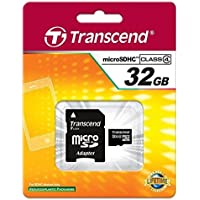 Transcend 32GB microSDHC Class 4 Memory Card with SD Adapter (6859369)