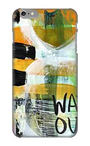 Inthebeauty PLebrR-2685-ImRHg Case Cover Skin For Iphone 6 Plus (Downtown Abstract Expressionist Art)/ Nice Case With Appearance