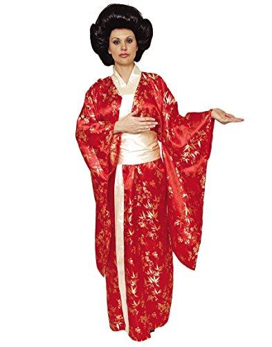 Underwraps Women's Kimono, Red/Gold, X-Large