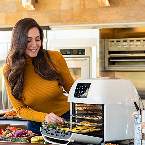 Best Choice Products 16.9qt 1800W 10-in-1 XXXL Family Size Air Fryer Countertop Oven, Rotisserie, Dehydrator w/Digital LED Display, 12 Accessories, 9 Recipes - White