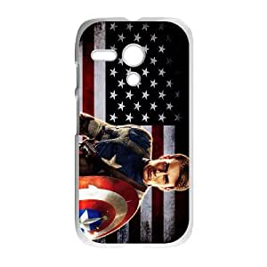 Captain America Motorola G Phone Case Black white Gift Holiday Gifts Souvenir Halloween Gift Christmas Gifts TIGER156511