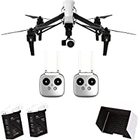 Original DJI T600 Inspire 1 Professional FPV RC RTF Quadcopter with 4K HD Camera & 3-Axis Gimbal Dual Transmitters & Sunshade Hood Cover & Intelligent Flight Battery
