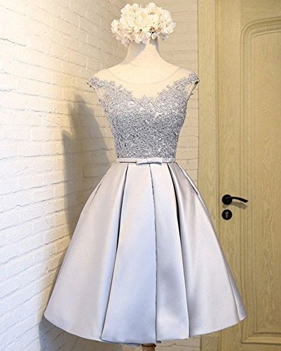 Homecoming Graduation Dress Dressylady Royal Dress Cap Blue Prom Short Sleeve 2017 14xHZ1R