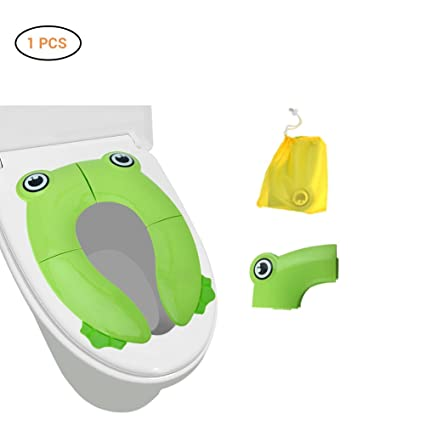 Asiento Plegable Inodoro Portátil para Niños Bebés Mallalah Tapa WC Plegable para Niños de Viajes