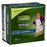Depend Underwear for Women, Maximum, Large, Pack/17