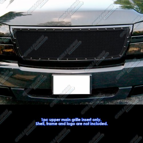 APS 06 Chevy Silverado 1500/05-06 2500/3500 Rivet Black Mesh Grille Grill Insert #N19-H6756LC -