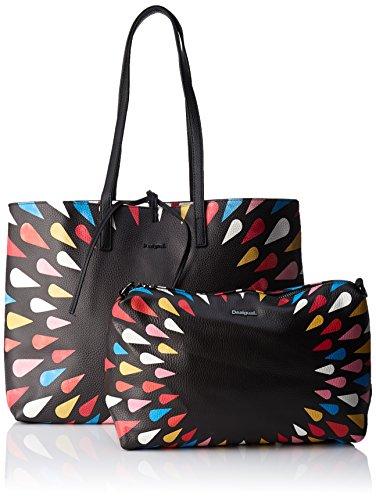 Shoppers Mujer H Y X Hombro tears Bols Cm 5x38 T Bolsos Negro De Desigual b 13x29 Splatter Seattle awzISxqC