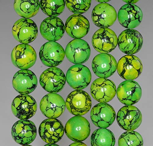 10MM Green Turquoise Gemstone Lime Round 10MM Loose Beads 16