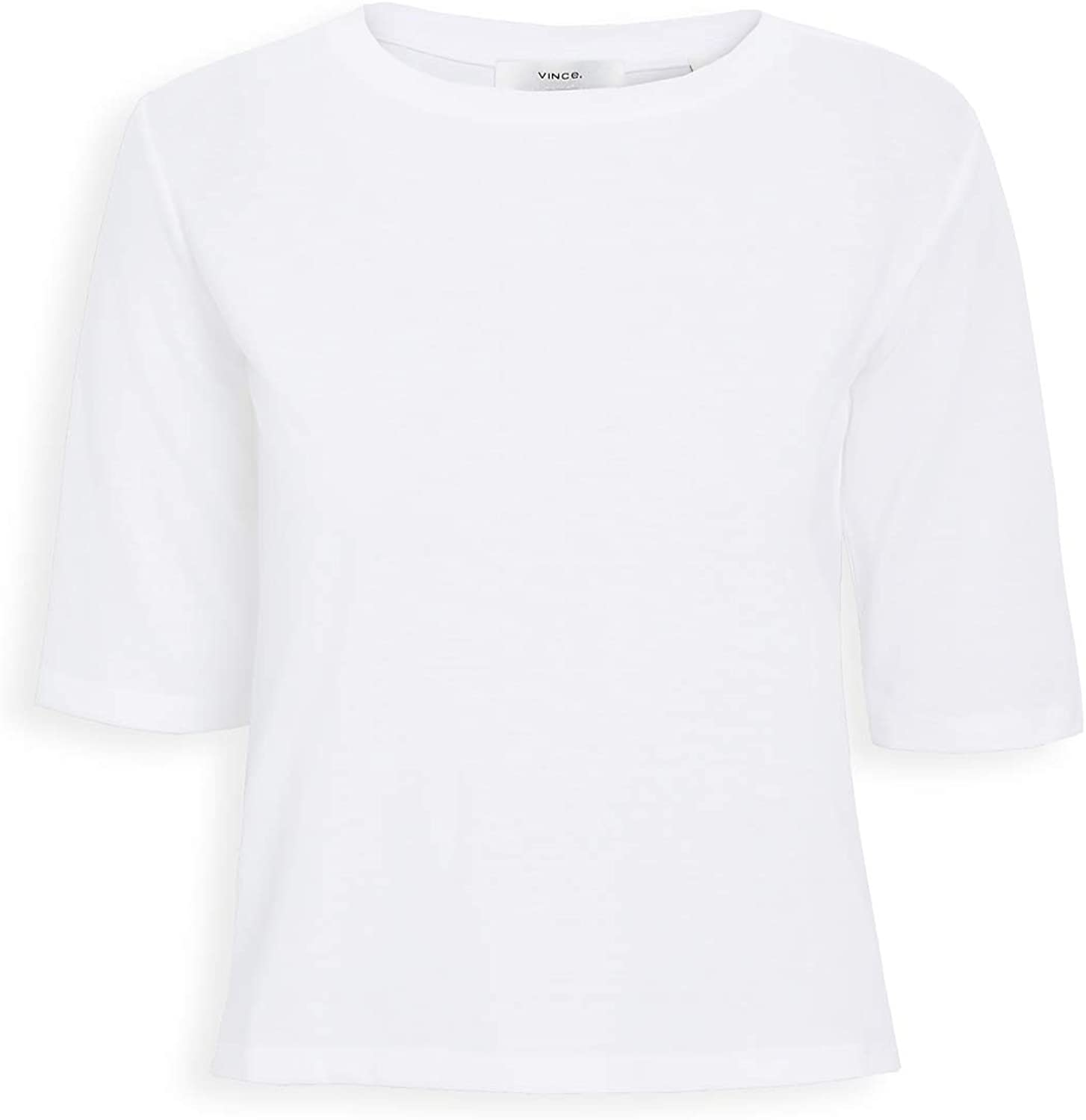 Vince Womens Elbow Sleeve Crew Tee