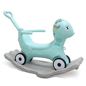 Silla Mecedora Para Niños Pequeños De Rocking Horse Rocker Toy, Carro, Ruedas, Barandilla De Doble Uso, Entrenamiento De Equilibrio, Regalo,Pink-A: ...