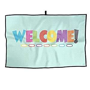 Portable Golf Towel Colorful Welcome Logo Unisex Casual Sports Towel 38X60cm