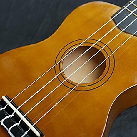 WZGGZ Color de 21 Pulgadas, pequeña Guitarra Negra, Principiantes, Cuatro Chicas de violín: Amazon.es: Hogar