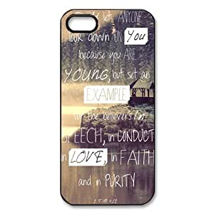 Christian Jesus Bible Verse Hard Plastic Cover Snap On Iphone 5/5S Case,Best Durable Iphone Case,Bible Verse Iphone Case hjbrhga1544