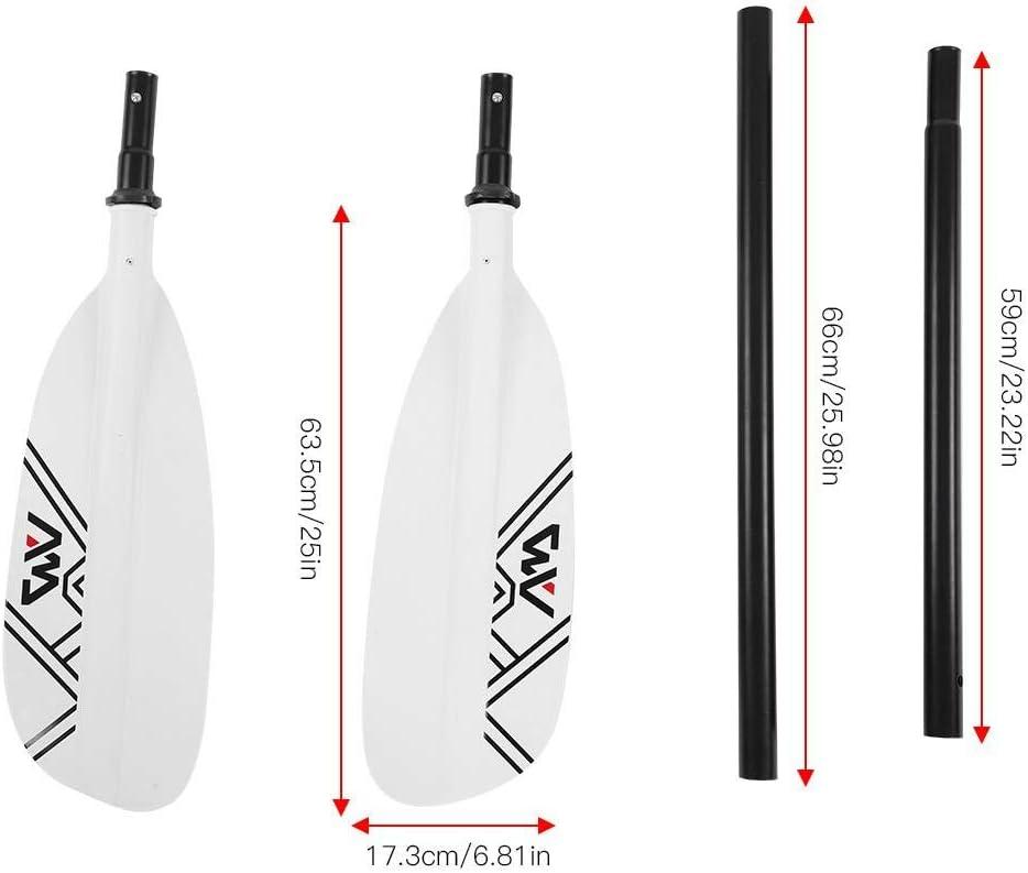 Tbest Pagaie de Cano/ë Alliage daluminium R/églable 4-Section Kayak Cano/ë Nautique Surf Paddle /à Deux Extr/émit/és