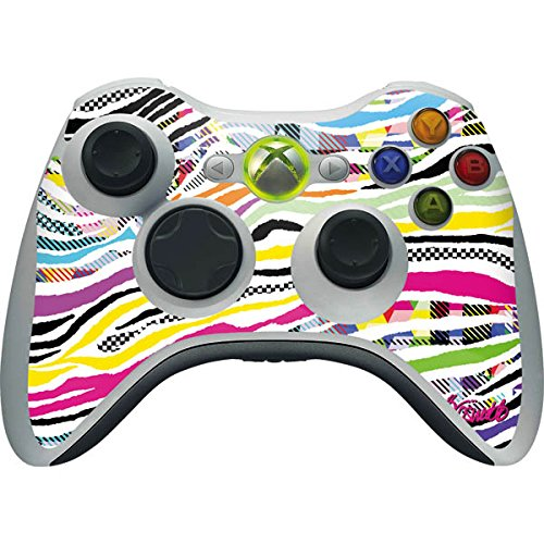 Abstract Art Xbox 360 Wireless Controller Skin - Zebra Pattern Vinyl Decal Skin For Your Xbox 360 Wireless Controller