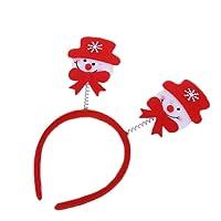 WeiMay Christmas Headband Red Fabric Hair Band for Xmas Holiday Party Accessory Headwear Decoration(Santa)