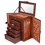 Kendal Huge Leather Jewelry Box / Case / Storage LJC-SHD5BN (Brown)