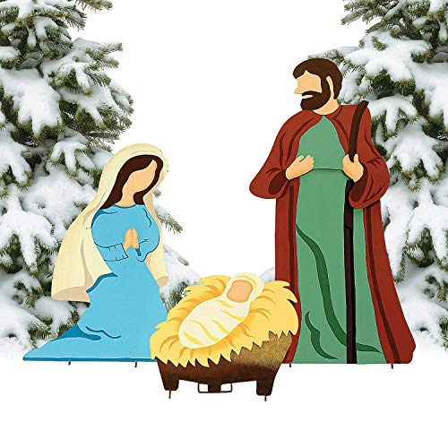 (Fun Express - Nativity Scene Yard Decor for Christmas - Home Decor - Outdoor - Yard Art - Christmas - 3 Pieces)