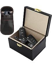 Faraday Box, [Bonus Faraday Pouch] Diyife Large Faraday Box for Car Keys RFID Box Key Box Signal Block Key Fob Protector Box Anti Theft Car Key Box for Car Keys, Phones(Black)