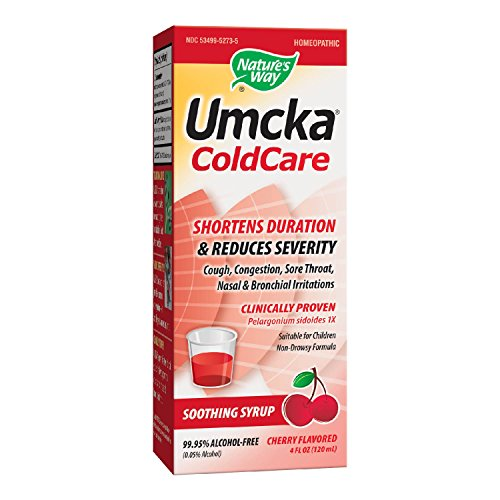 Nature's Way Umcka Cherry Syrup (Alcohol Free), 4 Ounce (Umcka Syrup)