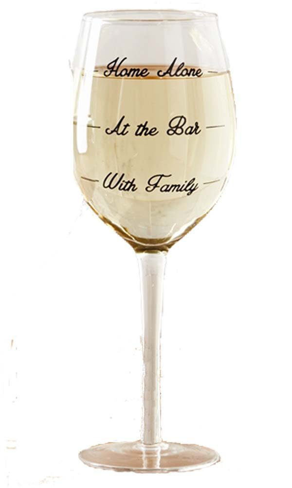 Two's Company Wine Not? Glass Wine Glasses (1, Home Alone)