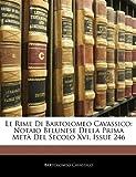 Le Rime Di Bartolomeo Cavassico, Bartolomeo Cavassico, 1144201942