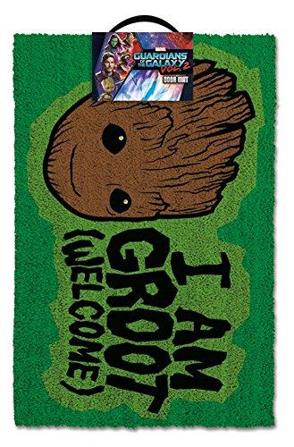 Guardians of The Galaxy I Am Groot Welcome Outdoor Doormat Door Mat 30x18 inch Merchandiseonline GP85155
